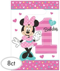 ©Disney Minnie's Fun To Be One Folded Loot Bags, 8ct