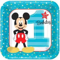 "©Disney Mickey's Fun To Be One Lunch Plates, 9"" - 8ct"