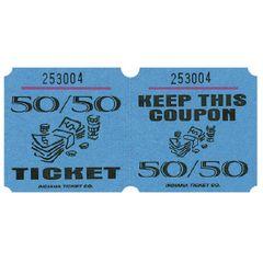 Blue 50/50 Ticket Roll