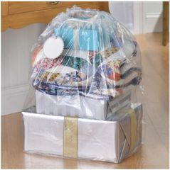 Giant Clear Plastic Gift Sack w/ Gift Tag