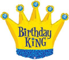 Birthday King Super Shape Balloon 36""