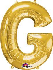 """Gold Letter G - 34"""" Mylar"""