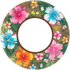 "Beachy Blooms Round Plates, 7"""