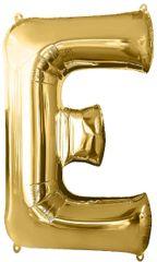 """Gold Letter E - 34"""" Mylar Balloon"""