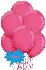 Bright Pink Latex Balloons, 15ct