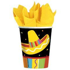 Bright Fiesta Cups, 9 oz. 8ct