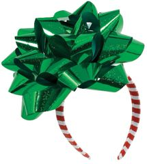 Big Christmas Ribbon Gift Bow Headband