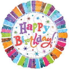 Radiant Happy Birthday Balloon 18in