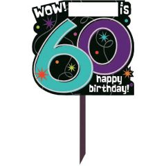 The Party Continues - 60 Personalized Yard Sign