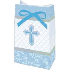 Blue Sweet Religious Favor Bags, 12ct