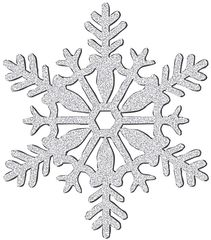 Large Silver Glitter Plastic Snowflake Decoration
