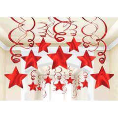 Foil Shooting Stars Mega Value Pack Swirls - Apple Red