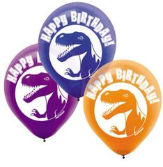 Prehistoric Party Printed Latex Balloons