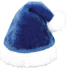 Plush Blue Santa Hat