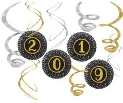 """""""2019"""" New Year's Fan and Swirl Decorating Kit, 12pc"""