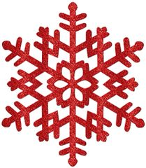 Large Red Glitter Snowflake