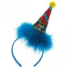 Birthday Brights Cone Hat Headband
