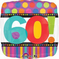 "60th! Birthday Dots & Stripes 18"""