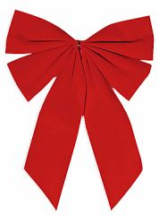 Red Velveteen Holiday Bow
