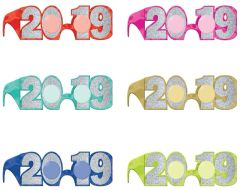 """2019"" New Years Multi-Jewel Tones Glitter Glasses or Grad Shades"