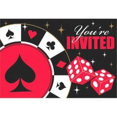 Casino Postcard Invitations W/Seals