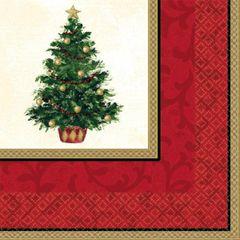 Classic Christmas Tree Dinner Napkins