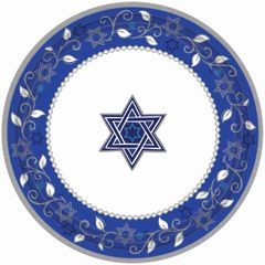 "Joyous Holiday Passover Desert Plates, 7"" - 8ct"