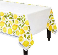 Lemons Plastic Table Cover