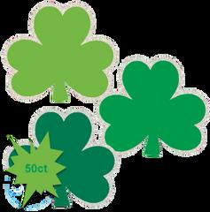Glitter St. Patrick's Day Shamrock Cutouts, 50ct
