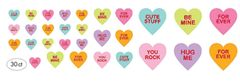 Conversation Heart Cutouts, 30ct