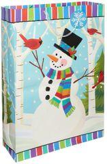 Smiling Snowman Jumbo Bag w/ Gift Tag