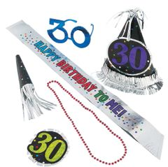 30th Birthday Accessory Kit, 6pc