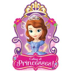 ©Disney Sofia The First Invitations, 8ct
