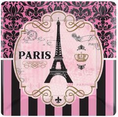 "A Day in Paris Dinner Plates, 10"" - 8ct"