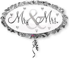 "Mr & Mrs Super Shape Balloon 32"""