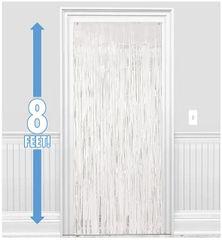 White Fringe Doorway Curtain