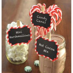 Christmas Chalkboard Clip-On Labels