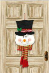 Smiling Snowman Door Hanger