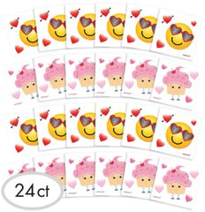 Valentine Characters Tattoos, 24ct
