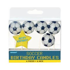 Soccer Birthday Toothpick Candle Set