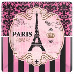 Day in Paris Dessert Plates, 8ct