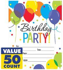 Balloon Bash Mega Value Pack Invitations