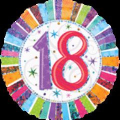 "Radiant 18th Birthday Balloon 18"""