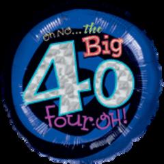"""Oh No My 40 Birthday 18"""""""