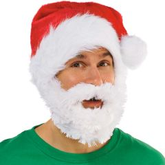 Velour Santa Hat w/Plush Beard