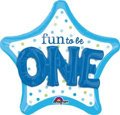 Fun To Be One Boy Super Shape Balloon 36""