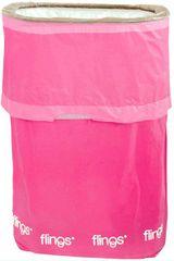 Bright Pink Flings® Pop-Up Trash Bin