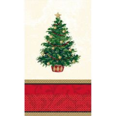 Classic Christmas Tree Guest Towels