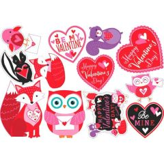 Valentine Woodland Friends Value Pack Cutouts, 12ct