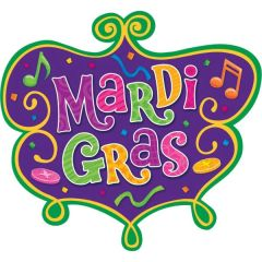 Mardi Gras Medium Cutout